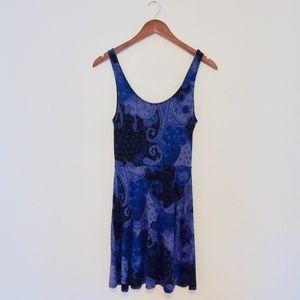 Express Purple & Black Paisley Sundress